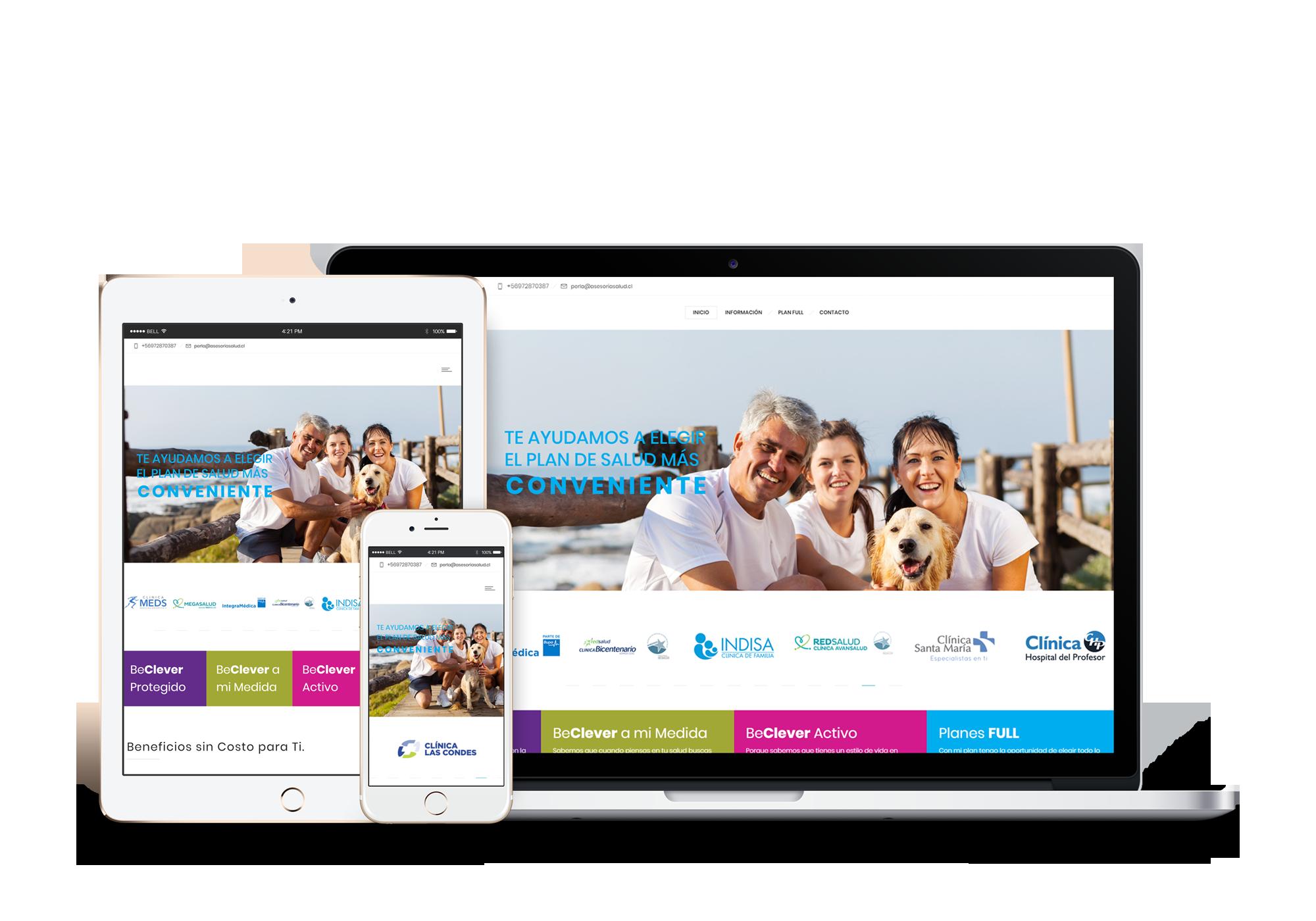Sitio web corporativo para asesora de Isapres